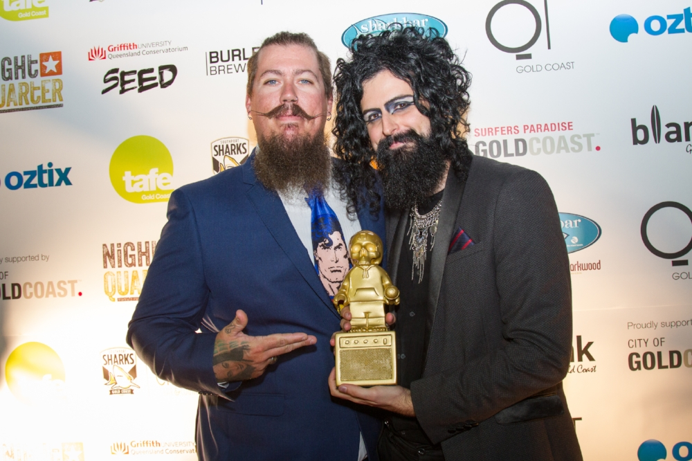 Tesla Cøils after winning the 'Break Out Artist of the Year' Award at the Gold Coast Music Awards.
