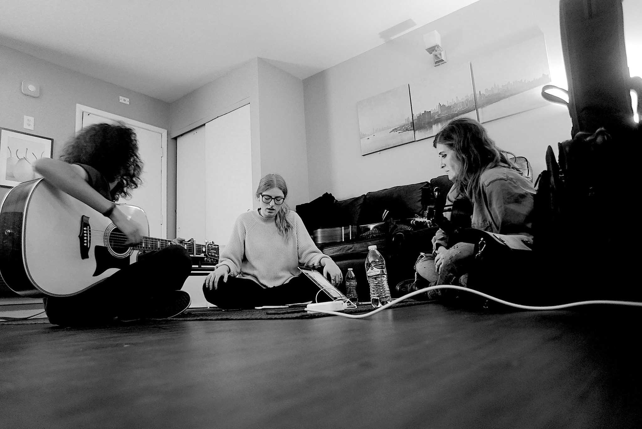 Josh King and MONIQUE songwriting with Diona Devincenz.