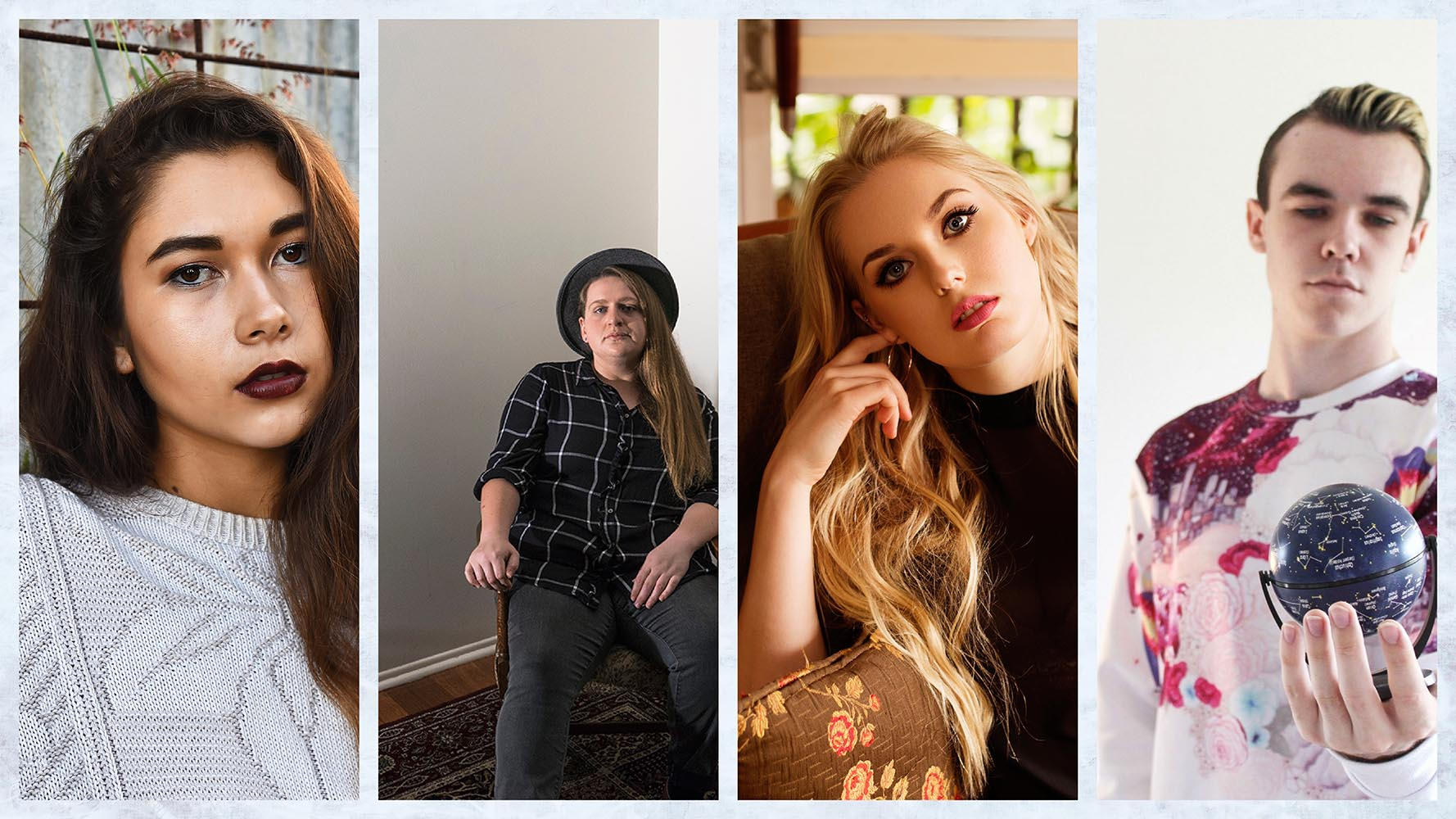 From left to right: Sophia Koop, Tiarni Hope, Amber Stone and Lucalion