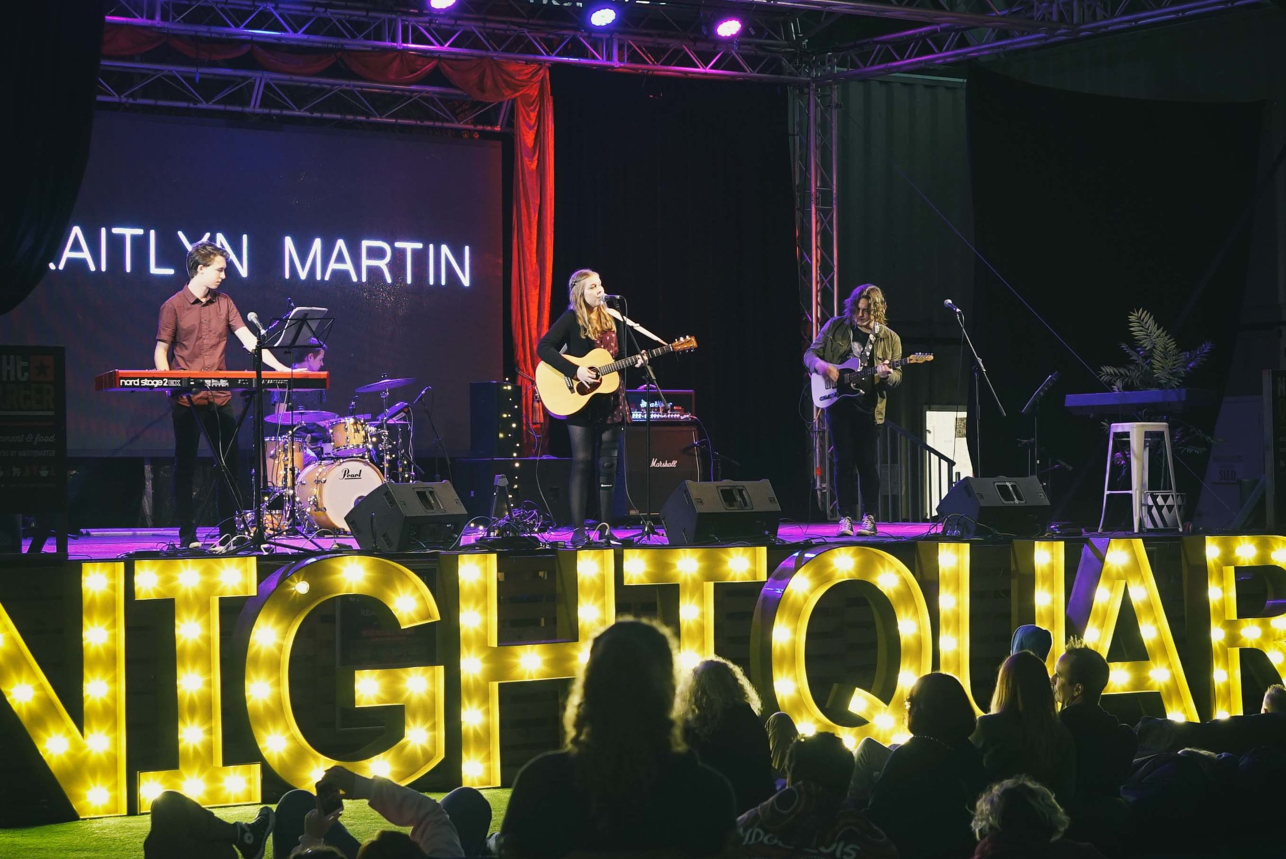 Kaitlyn Martin and band at NightQuarter 2018