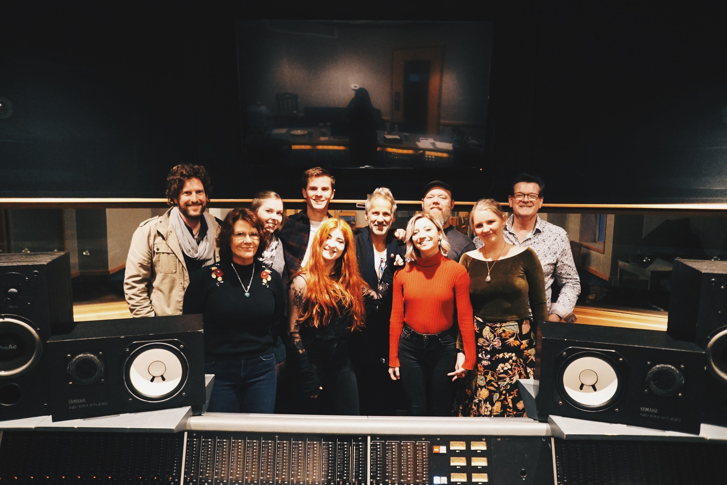 This photo was taken after a full day of recording and 5 amazing songs down with this legendary team of session musicians led by ace producer Scott Gerow at Ocean Way Studios.