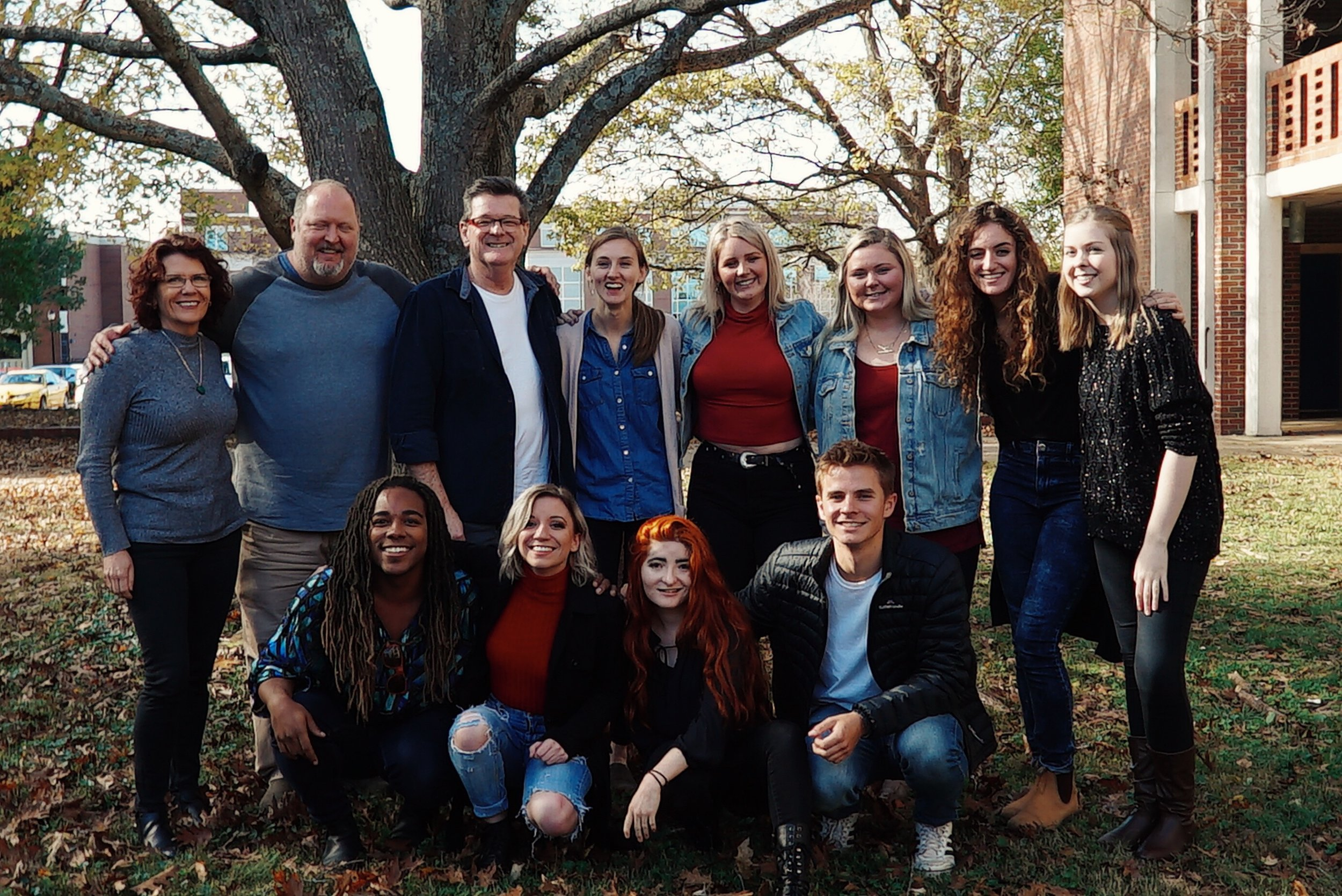 Group photo with Middle Tennessee State University Songwriting students