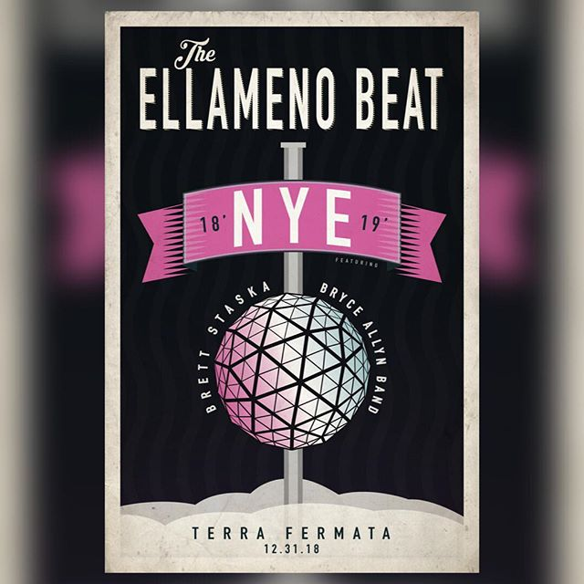 Happy NYE everyone!! See you soon @terrafermata 🎉🎆🍾🥂 . Tickets are selling quick! Get them before they're gone!! 🎫 Ticket link in bio . 12.31 | Stuart, FL | $15 | Doors: 6PM . @bryceallynband  @brettstaska  #theellamenobeat  #stuart #hometownthrowdown #newyearseve #2019