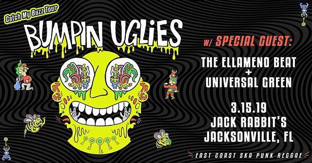 See ya tonight! 🙌🙌🙌 . ⏰8PM | 🎫$12 . #theellamenobeat  @bumpinugliesmusic  @universalgreen_official  #jacksonville #stoked