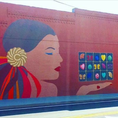 The Chocolaterie Mural on W. Lawrenceville Street