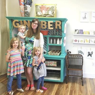Stacie and her three beautiful children.