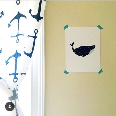 The whales. This is actually my boys' room!