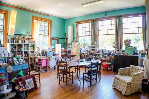 Suzanne's glorious studio