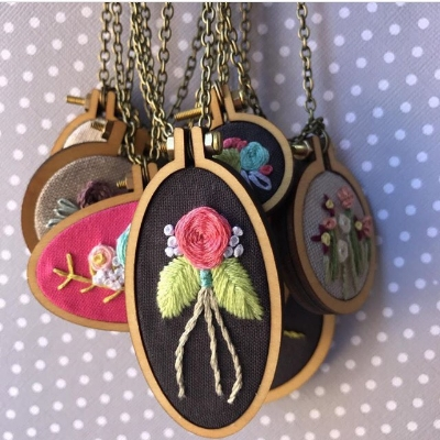 Knotty Hoops Necklaces