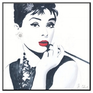 This is that Audrey Hepburn print I talk about in the video-- picture compliments of Target.com