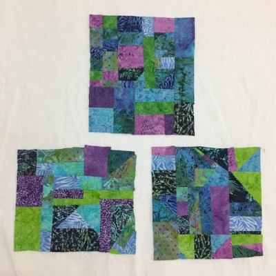 3 of the 4 blocks I plan to make for the center of a quilt