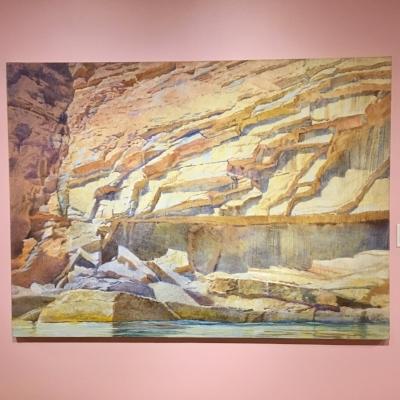 Watahomigi Crossbeds by Merrill Mahaffey. Acrylic on canvas, 2000.