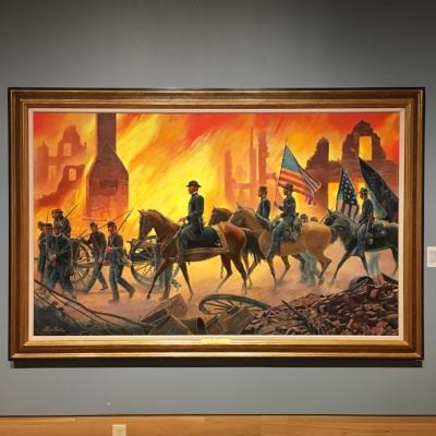 """War is Hell"" by Mort Kunstler. Oil on canvas, 2001."