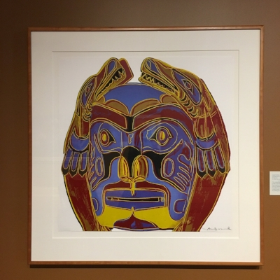 """Northwest Coast Mask"" by Andy Warhol. Serigraph, 1986."