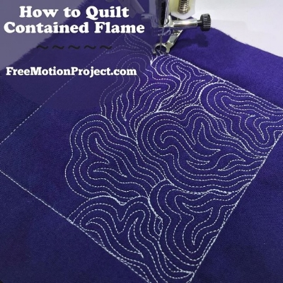 An example of a free motion quilting design by Leah Day