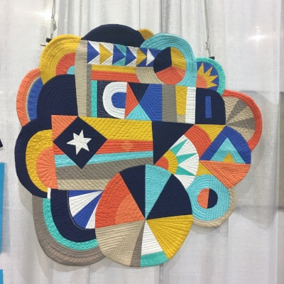 """""""Whatever"""" by Katie Larson. This quilt won first place in the small quilts division, and you should go look Katie up on Instagram   @katie.craftshell   immediately. Her work is STUNNING."""