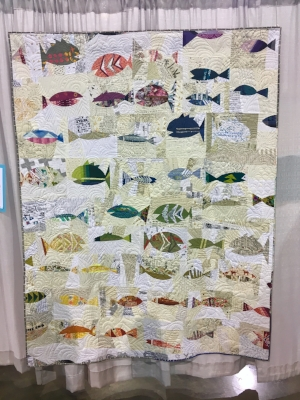 """""""Folksy Fish"""" by Sarah Sharp. Fish will get me every time, y'all, but these are just extra charming! This makes me want to spend a day at the Tennessee Aquarium or swimming at Blue Hole."""