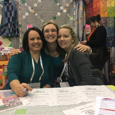 Christa (L), Me (center), and Angela (R) at QuiltCon