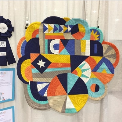 """""""Whatever"""" which own first place in the small quilts category at QuiltCon2017"""