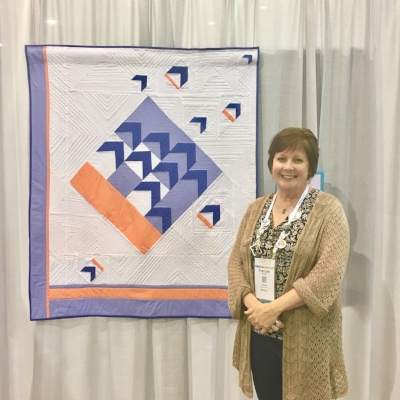 Frances with Modern Birds in the Air at QuiltCon 2017. I'm also pattern testing this quilt for her right now. woohoo!