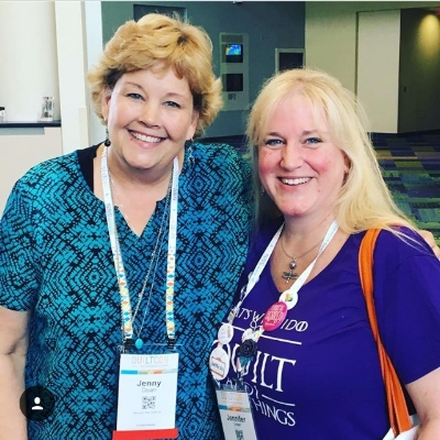 Quiltin' Jenny (right) with another quiltin' Jenny, Jenny Doan!