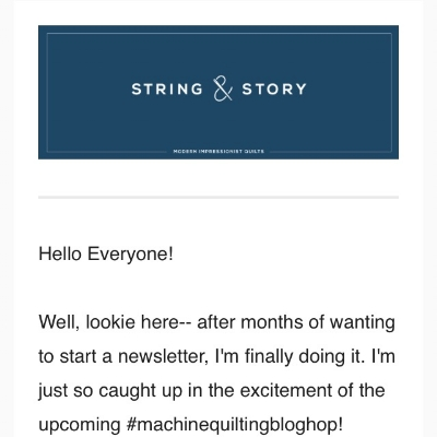 A quick little screen shot of the first bit of last week's newsletter. Click the photo to sign up!