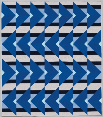 Christa's blue Directionally Challenged Quilt