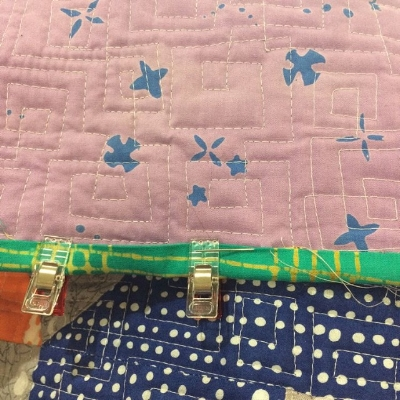 More gorgeous squares and a yummy scrappy binding