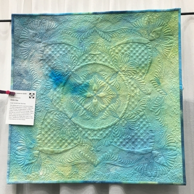 """Snow Day"" by Andi Settlemoir Barney. In addition to doing the amazing quilting, Andi also dyed the fabric!"