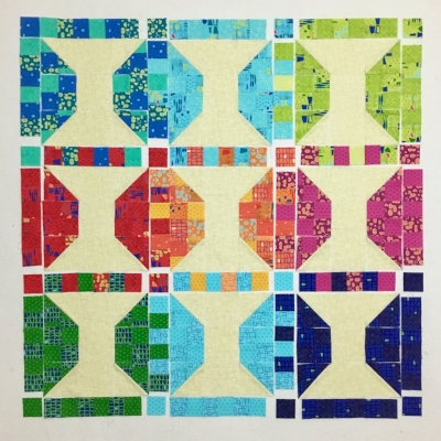 Christa Watson's Spools Quilt made from Modern Marks Fabric