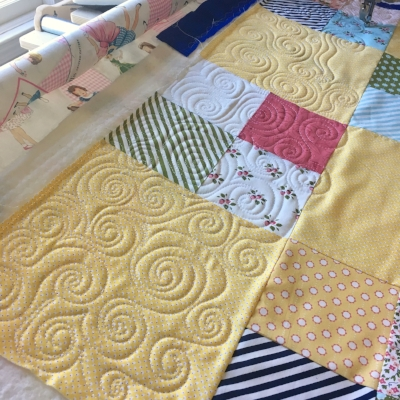 Quilting Swirls at String & Story