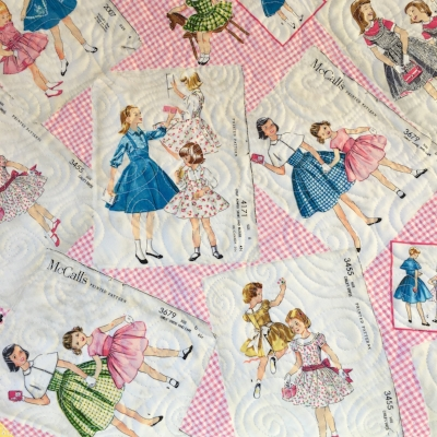 How darling is this backing fabric??