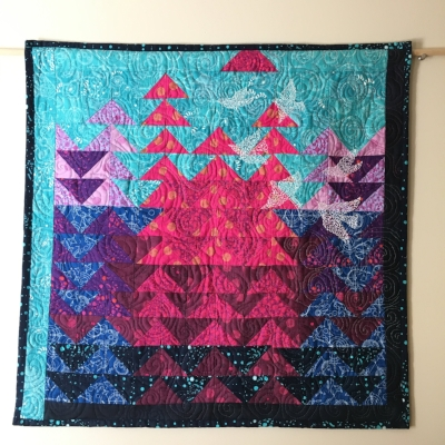 Murmuration Quilt by HollyAnne Knight of String & Story