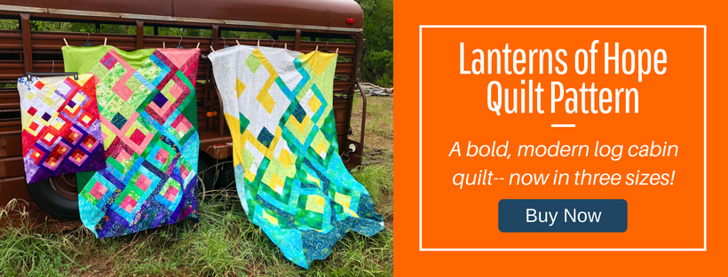 Lanterns of Hope Quilt Pattern by HollyAnne Knight of String & Story
