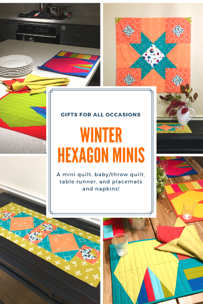WINTER HEXAGON MINIS by HollyAnne Knight of String & Story