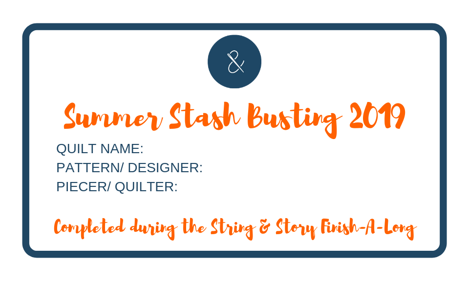 Summer Stash Busting 2019- Works in Progress- with HollyAnne Knight of String & Story
