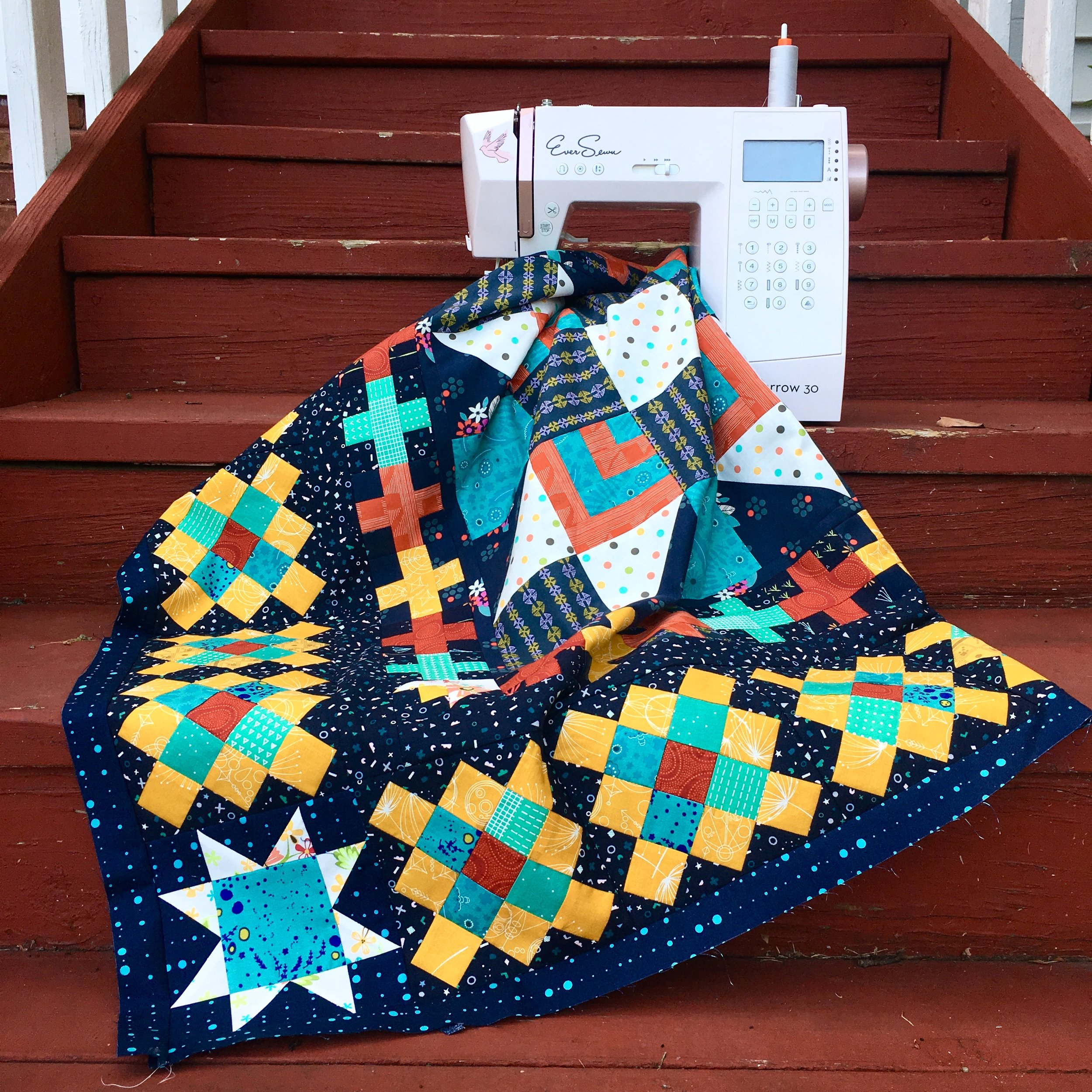Quilting a Large Quilt on Your Domestic Machine with HollyAnne Knight of String & Story