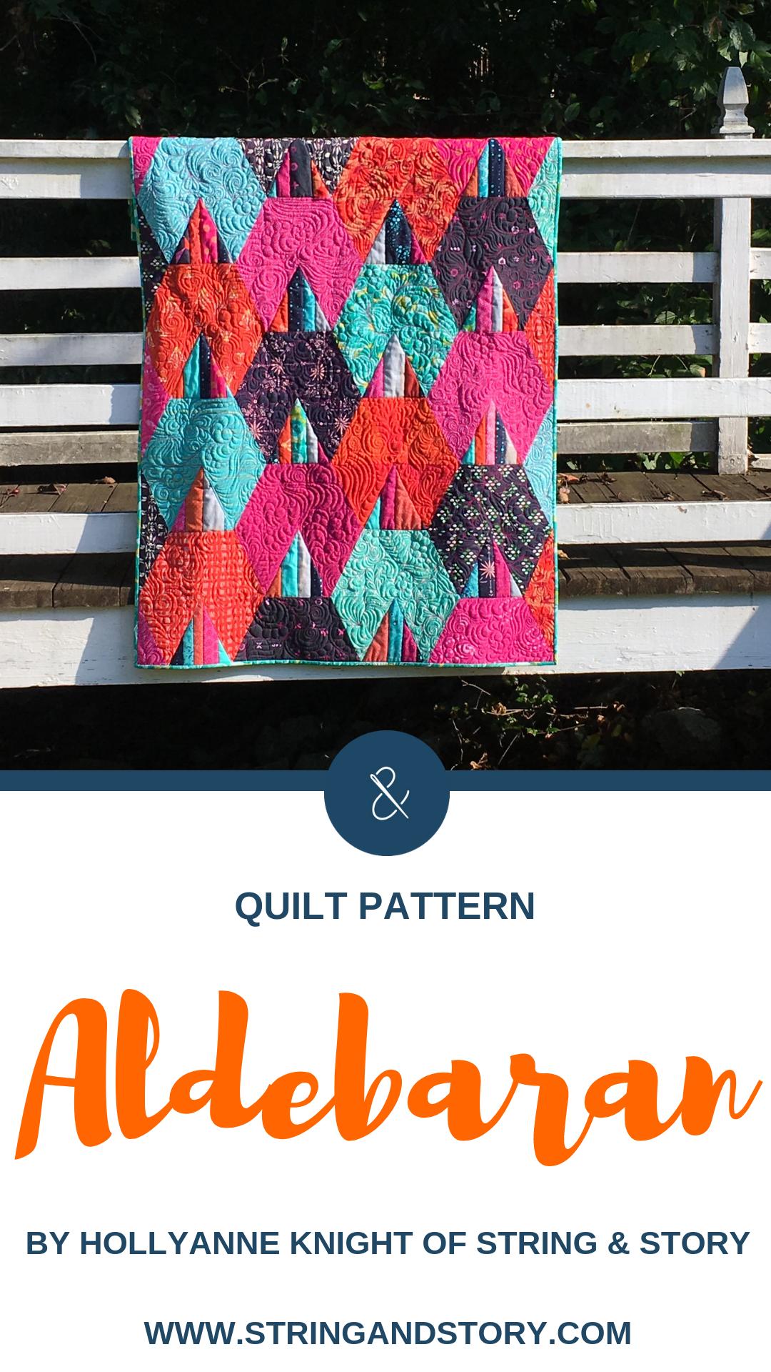Aldebaran Quilt Pattern by HollyAnne Knight of String & Story