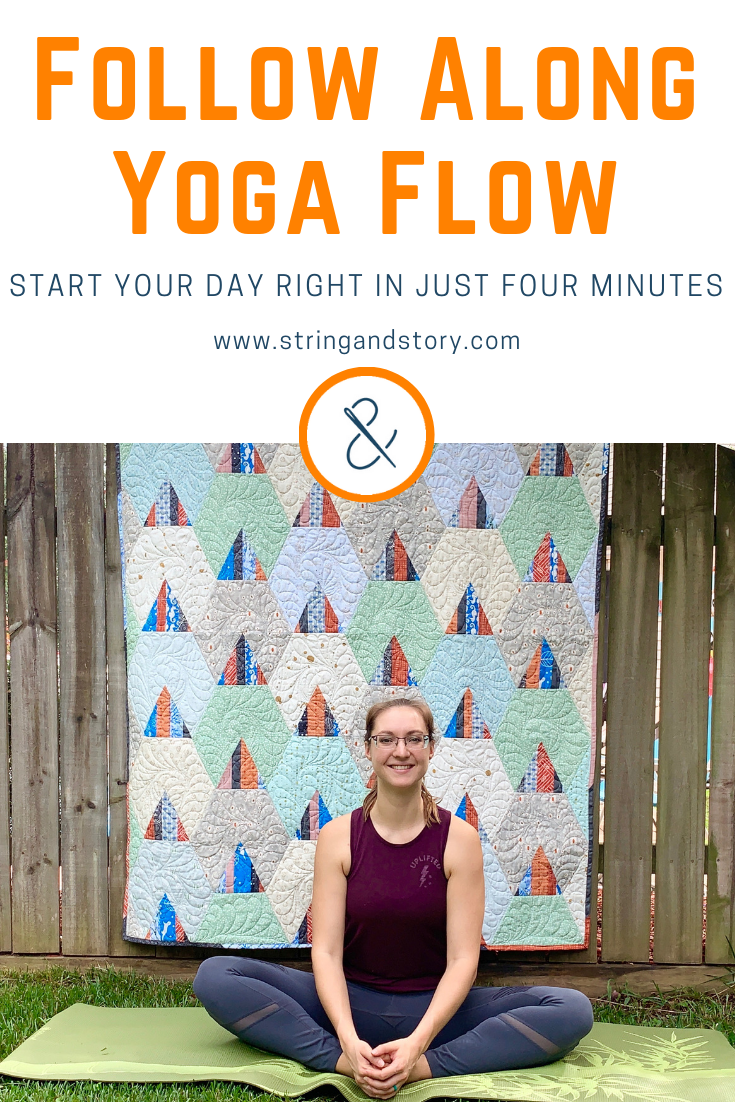 "Let's be honest-- we all wish we were yogis. But, darn it, another day went by and I just didn't find the time! Start by being a ""yogi lite"" with my easy, four minute yoga flow. Stretch key muscles groups and feel great in just four minutes-- click through to follow along with the video!"