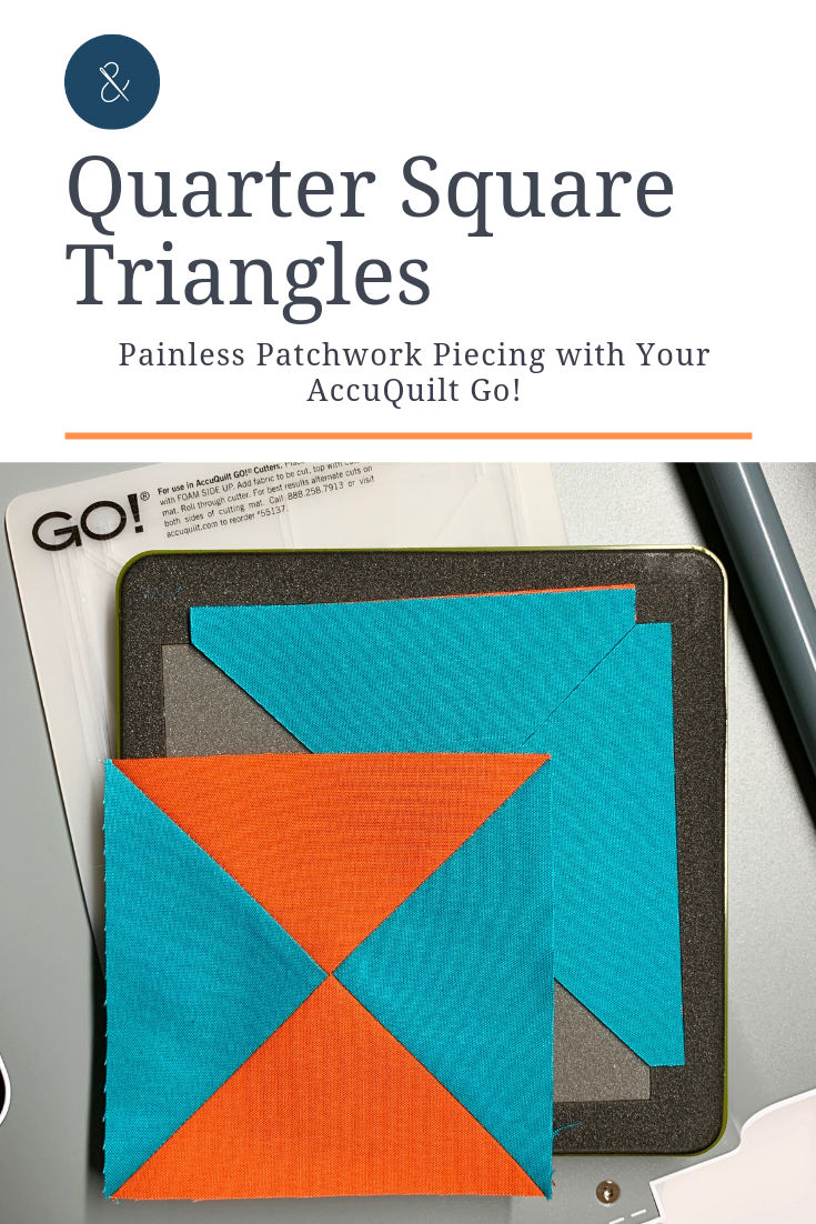 Quarter Square Triangles, or hour glass blocks, make adorable centers to patchwork stars and other quilt blocks. Learn my top three ways to make QSTs on the blog-- click to read!