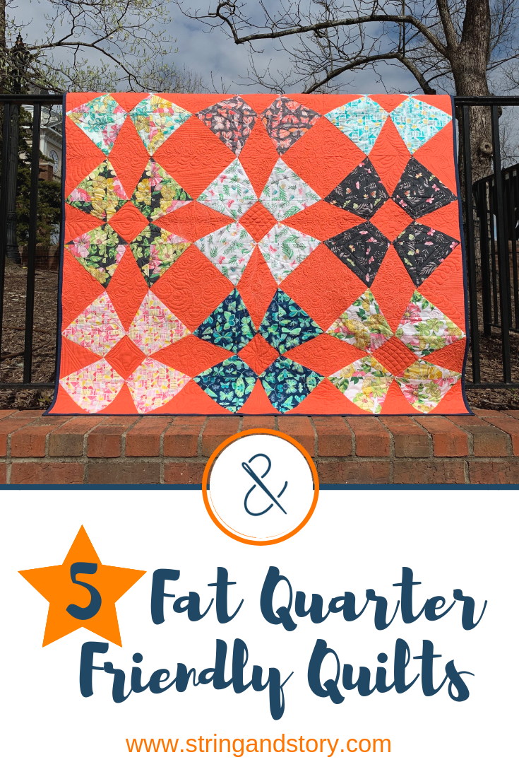 Fat quarters make for quick, fun quilts, and I always seem to have plenty of them hanging around. Check out these beginner and  fat quarter friendly quilts patterns!