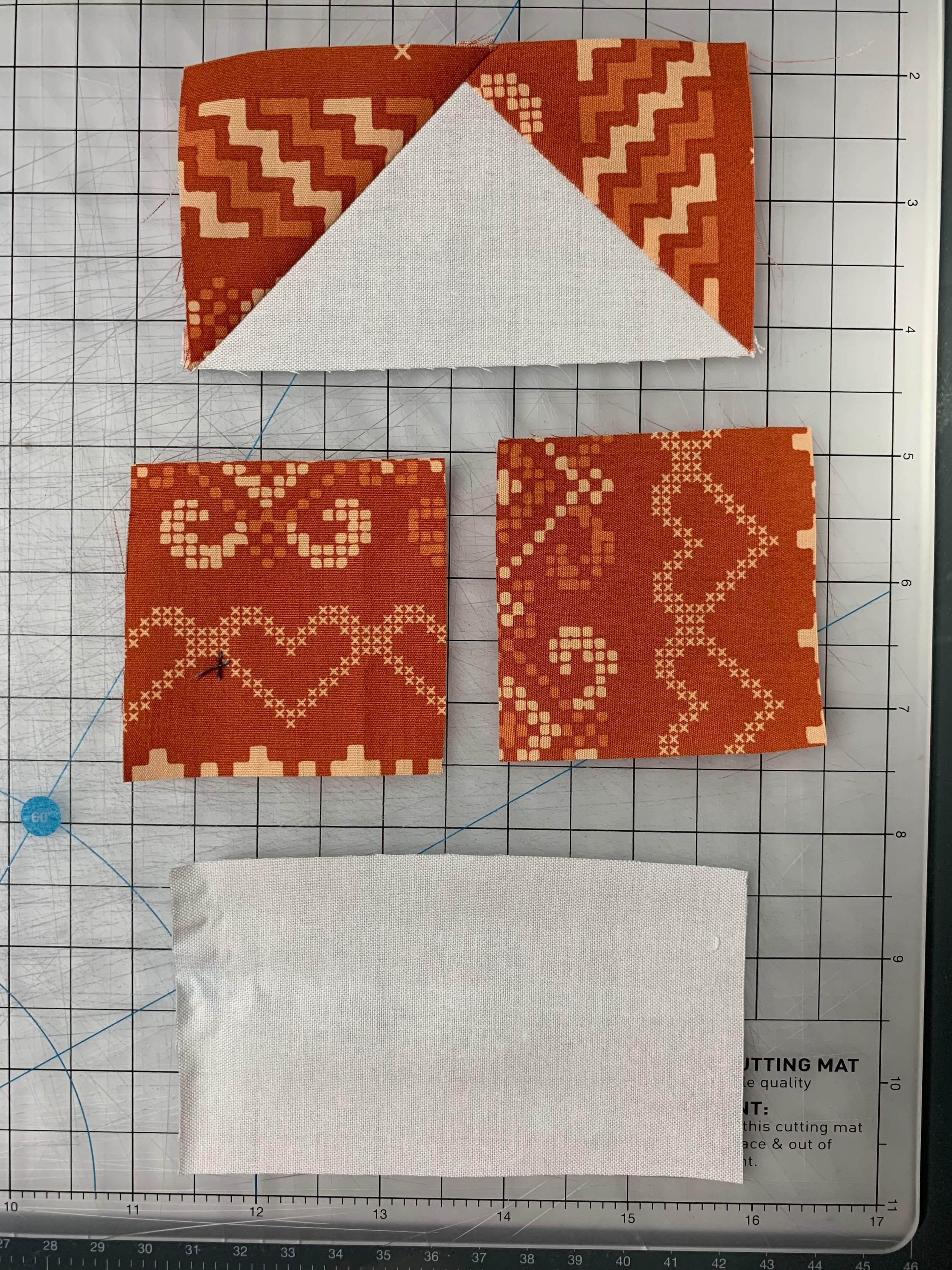 Basic pieced flying geese are a fun and easy way to add movement to your quilts or make star blocks. Click to learn how easy it can be!