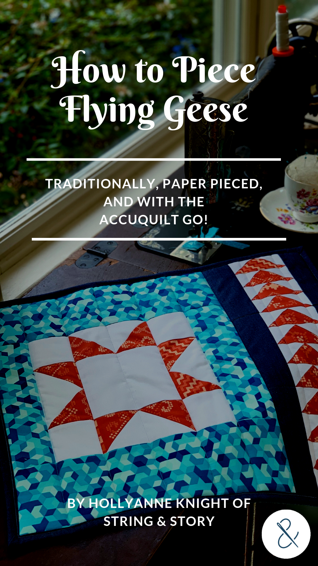Flying geese units add great movement to quilt tops and are perfect for piecing star blocks. Don't let working with triangles trip you up, though-- they can be quite easy and fun to make! Click to learn my three favorite ways to make flying geese!