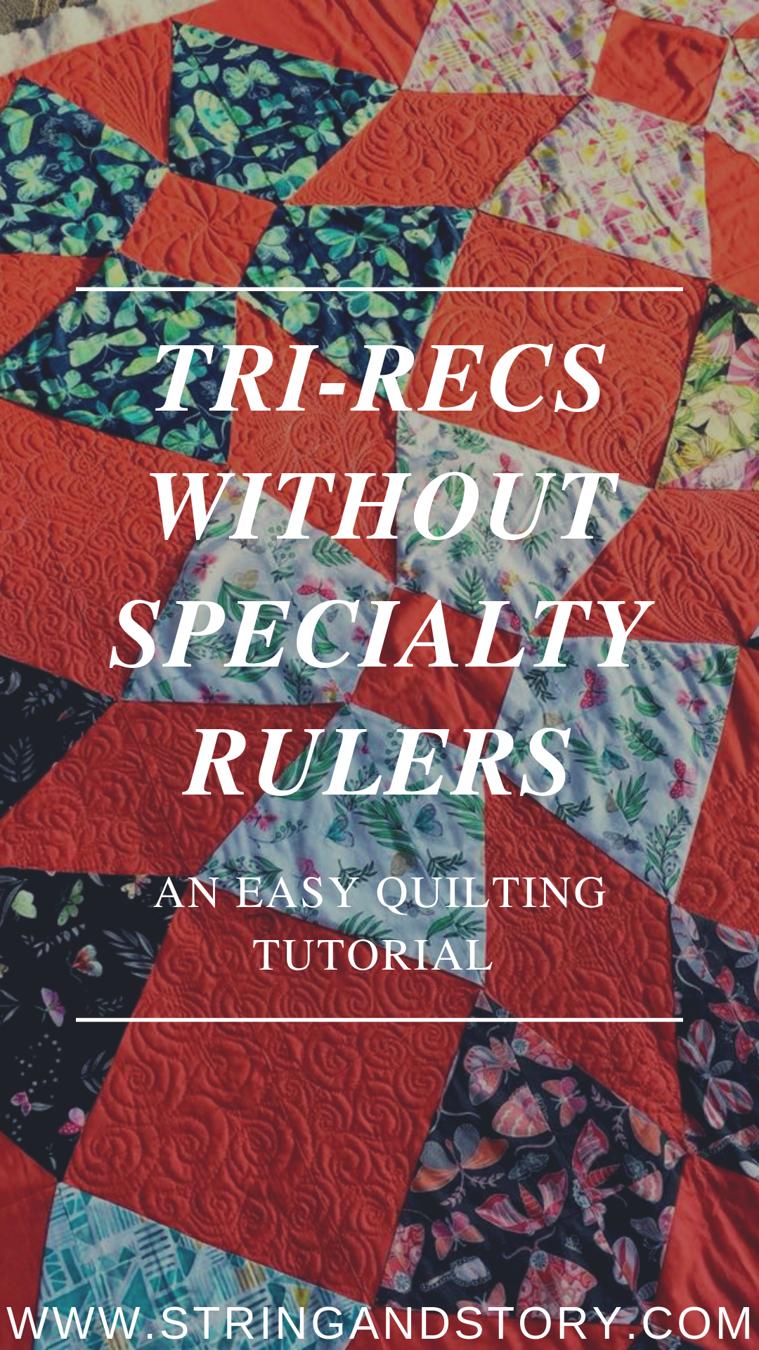 """""""Tri-recs"""" units, usually a triangle in a square rather than a rectangle, are a common feature in patchwork quilting. They are easily made using Tri-Recs Rulers, but if you don't have specialty rulers or need a size to big for your ruler, here's the secrets to making them easy peasy with regular ol' cutting methods."""