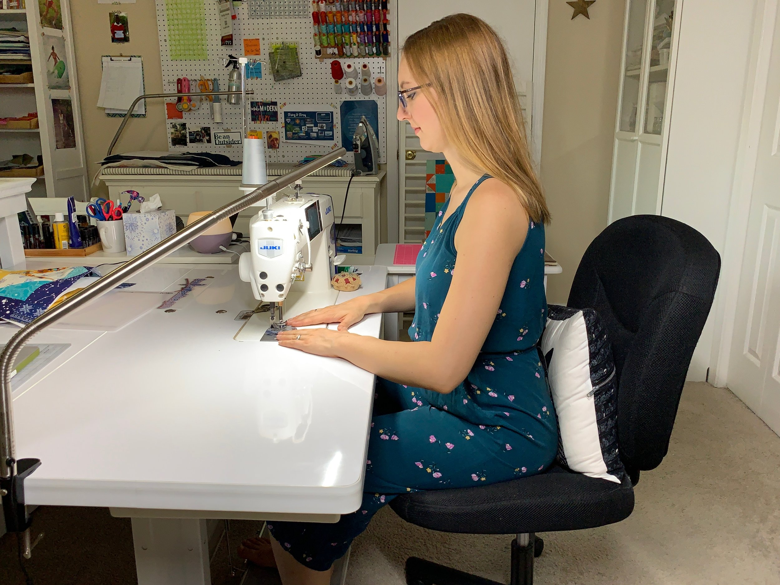 How to have Good Posture for Sewing and Quilting to Prevent and Relieve Pain with HollyAnne Knight of String & Story