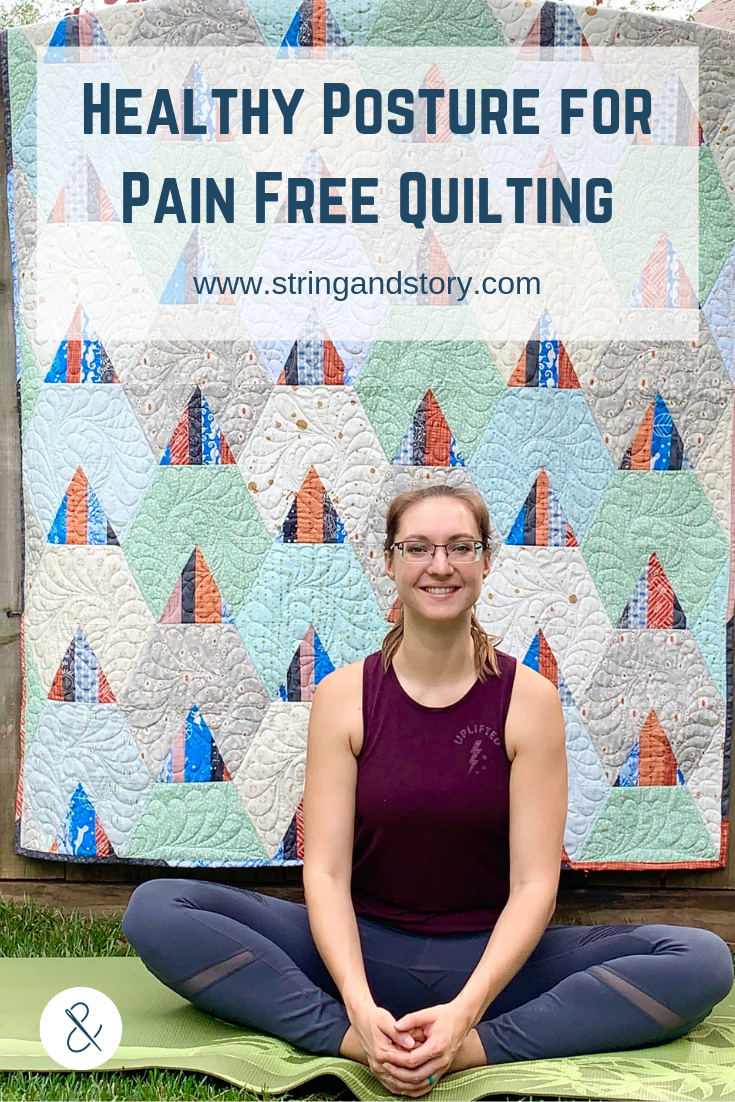 Relieve your sore back and neck through proper quilting and sewing posture . Learn simple techniques and strategies to sew longer and more comfortably by clicking through to the blog now!