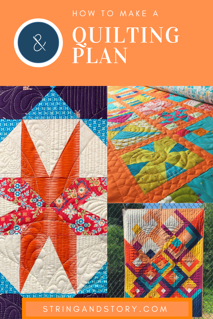 Ready to jazz up your quilts with some free motion quilting but unsure what to quilt where?  Join me to learn how to make a quilting plan-- choosing your quilting designs ahead of time so quilting is fun and stress free! Click to learn more!