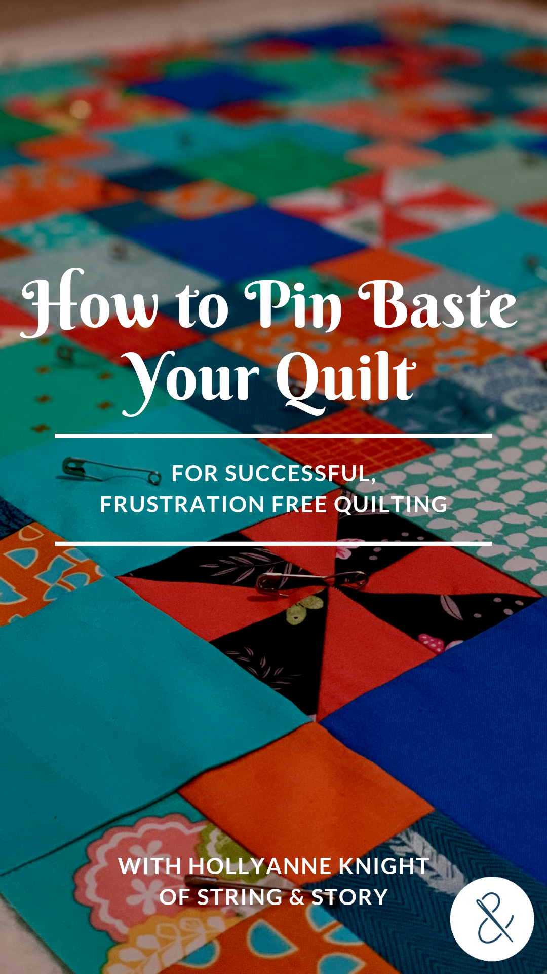 Getting all three layers of a quilt smooth can be a challenge for any quilter. Join me as I show you how to do basic pin basting so that you can quilt with confidence!
