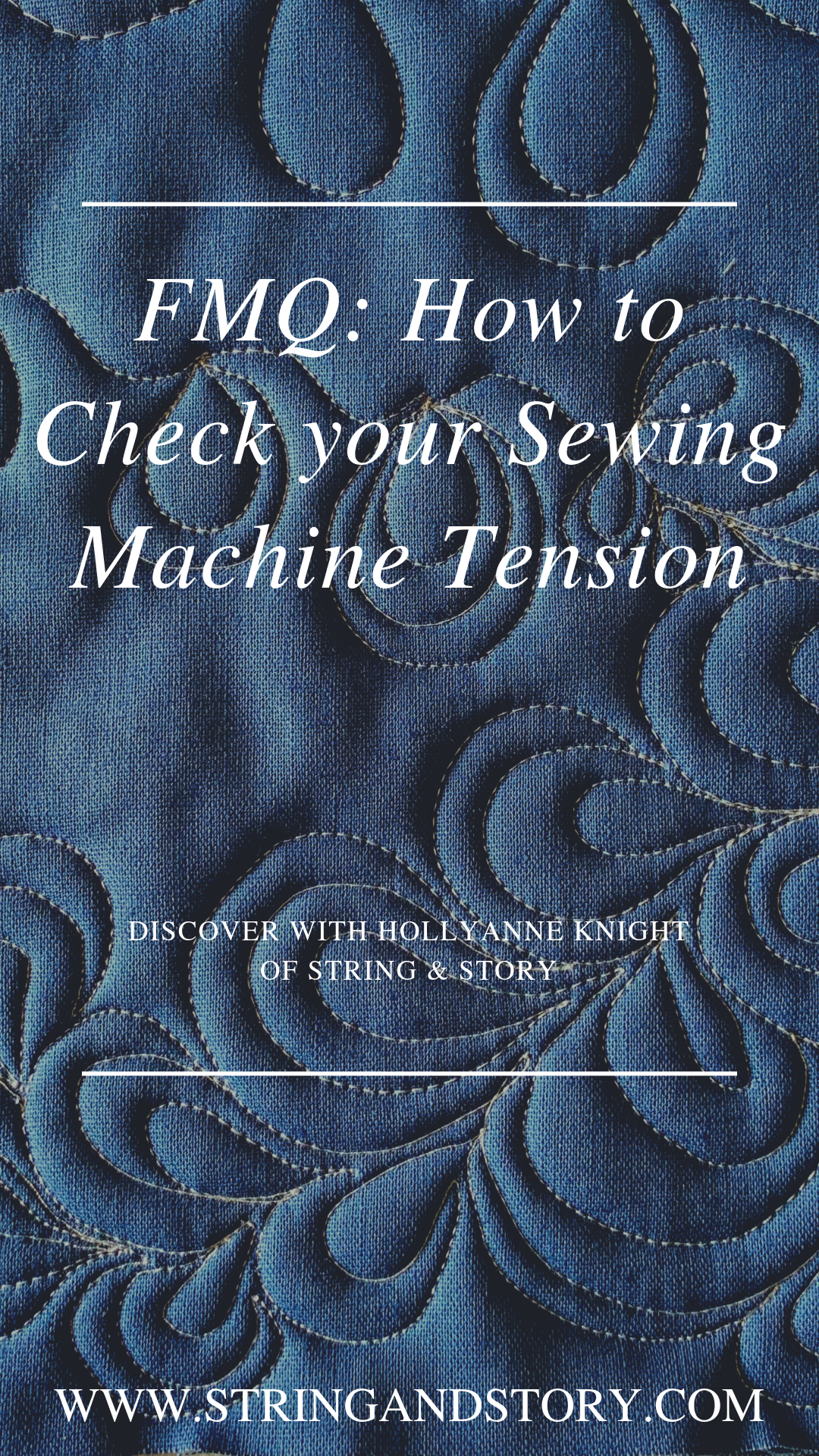 Poor tension is the enemy of quilting mojo, so let's take a few minutes to make sure you'll have gorgeous, balanced stitches! Click to get started!