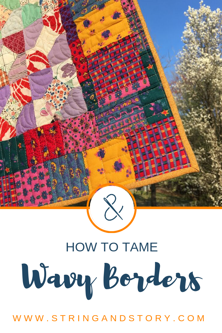 I'm all for friendliness, but friendly borders are a lot of work! Join me as I show you a simple way to stitch your wavy borders flat, so your quilts lie super smooth!
